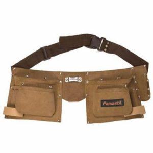 Cinturão Para Ferramentas Duplo 4 bolsos Famastil