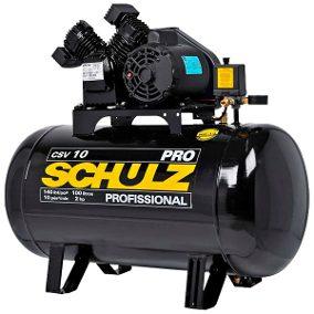 Compressor de Ar 10 Pés 100L 2HP 140PSI Monofásico – SCHULZ-PROCSV10/100 COD. 1858379 SCHULZ